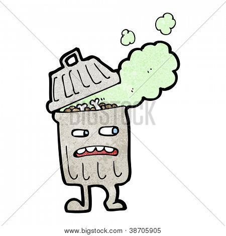 trash can cartoon character