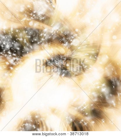 Abstract twister background with flying stars