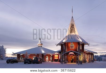 Christmas House In Santa Claus Village In Rovaniemi