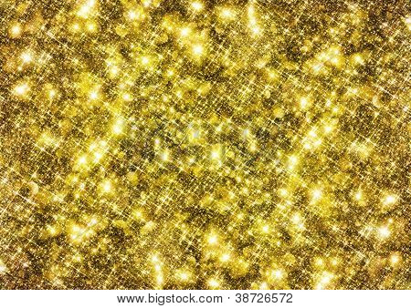 Gold glittering background.