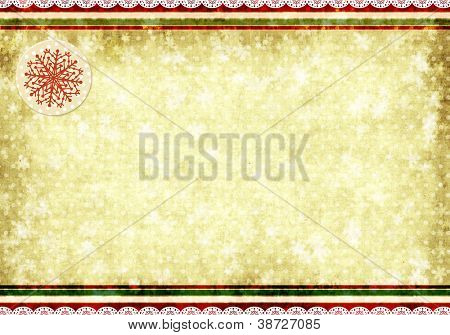 Christmas grunge background in shabby chic style