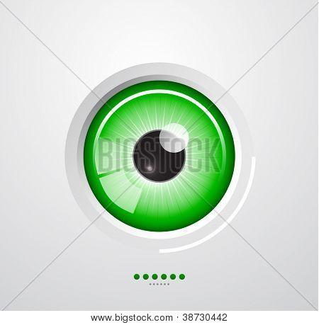 Fundo de olho brilhante abstrato
