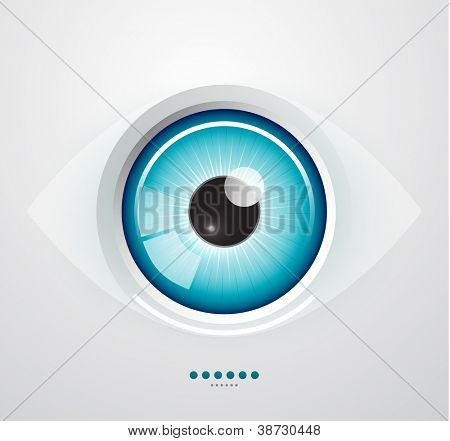 Abstract glossy eye background
