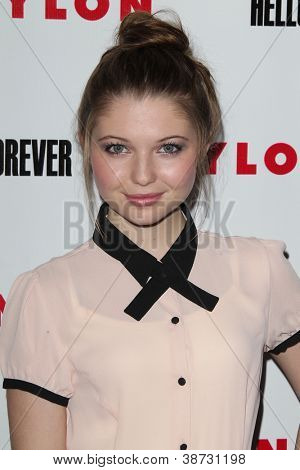 LOS ANGELES - OCT 15:  Sammi Hanratty arrives at  Nylon's October IT Issue party at London West Hollywood on October 15, 2012 in Los Angeles, CA
