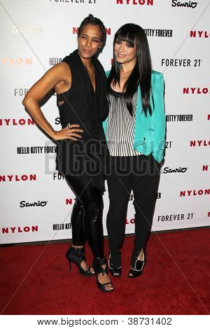 LOS ANGELES - OCT 15:  Daphne Wayans, Mayte Garcia arrives at  Nylon's October IT Issue party at London West Hollywood on October 15, 2012 in Los Angeles, CA