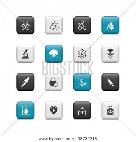 Science icons. Buttons