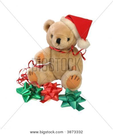 Teddy Bear With Christmas Decorations