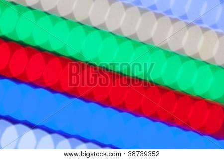 fundo de luzes led multicolor de bokeh