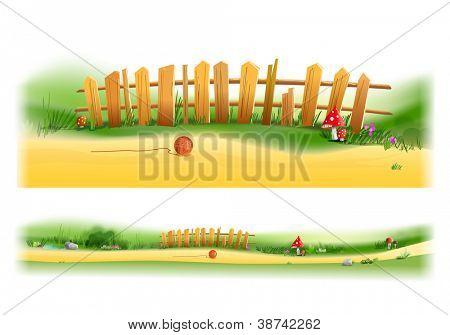 Holzzaun-Abbildung