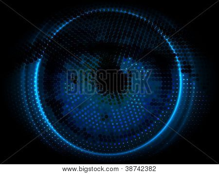 targeted eye vector background | high technology design