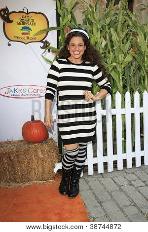 LOS ANGELES - OCT 21: Marissa Jaret Winokur at the Camp Ronald McDonald for Good Times 20th Annual Halloween Carnival at the Universal Studios Backlot on October 21, 2012 in Los Angeles, California