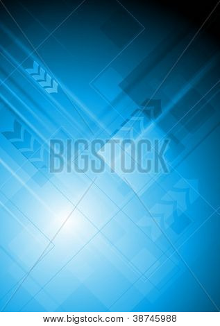 Abstract technology background with arrows. Eps 10 vector illustration