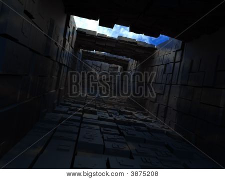 Abstrac Building From Boxes