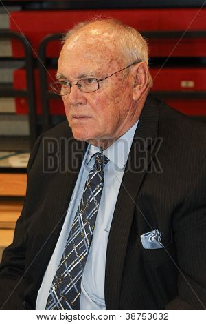 NEW YORK-OCT. 23: St. John's Red Storm special assistant Gene Keady during media day on October 23, 2012 at Carnesecca Arena, Jamaica, Queens, New York.