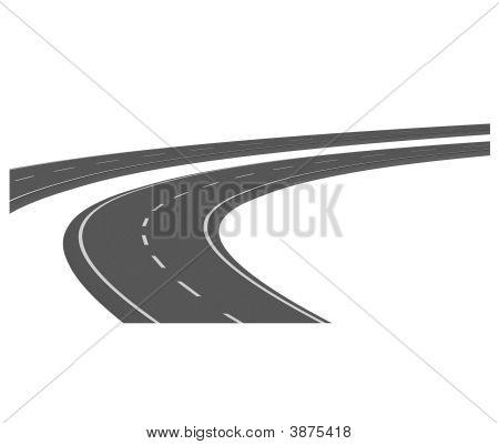 Curve Asphalt Road 06
