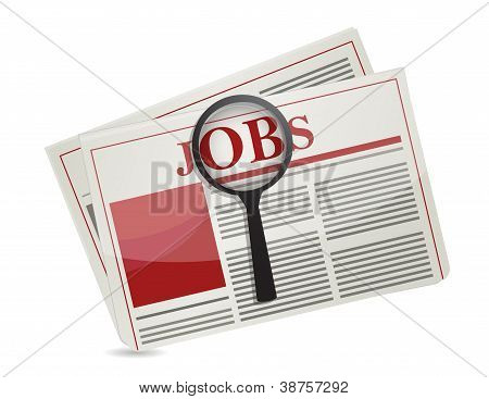Searching For Jobs In The News Paper