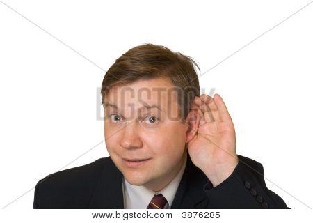 Man In Listening Pose