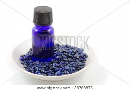 Essential oil and lapis lazuli
