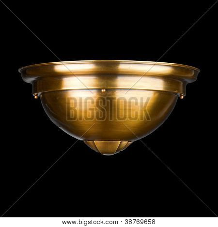 vintage wall lamp isolated on black with clipping path