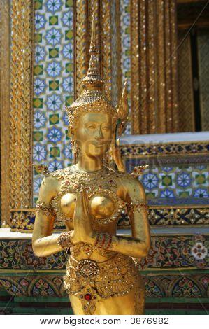 Golden Godness Statue Thailand Royal Palace