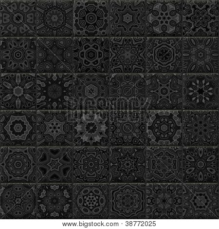 Seamless ornamental tiles