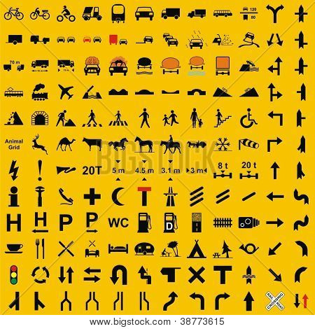 Vector - Traffic Icons Set