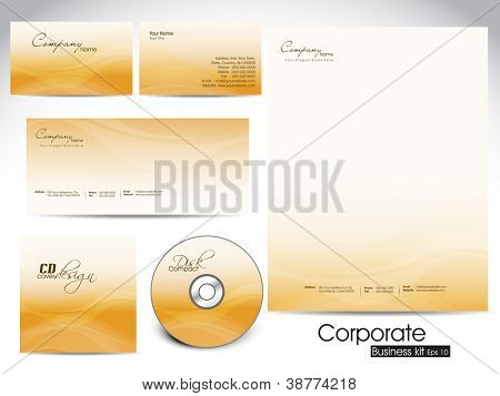 Professional corporate identity kit or business kit for your business includes CD Cover, Business Card, Envelope and Letter Head Designs. EPS 10.
