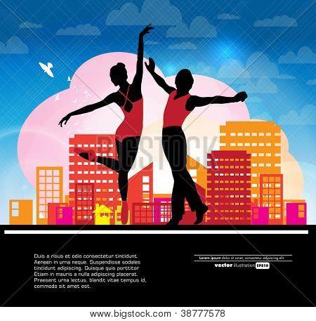 Ballet. Vector illustration