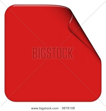 Red Square Sticker