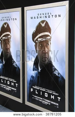 LOS ANGELES - OCT 23: Poster at the Premiere of Paramount Pictures' 'Flight' at ArcLight Cinemas on October 23, 2012 in Los Angeles, California