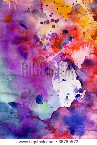 Abstract grunge texture with paint splatter