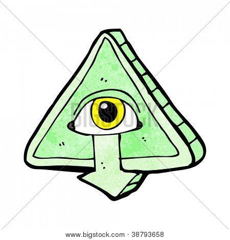 cartoon all seeing eye cartoon