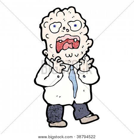 cartoon man having allergic reaction