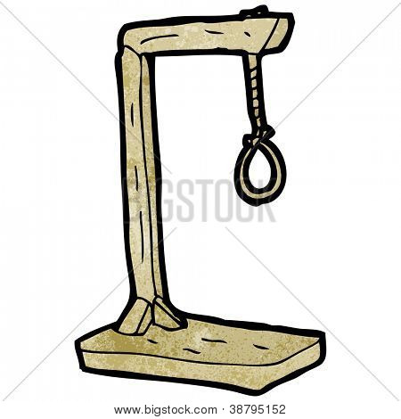 cartoon gallows