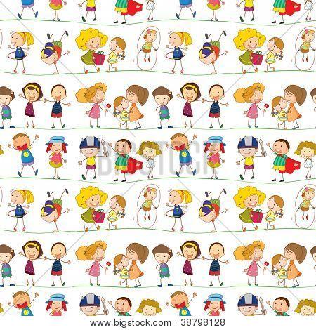 ilustração de uma crianças em um fundo branco