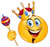 picture of scepter  - King emoticon holding a scepter - JPG