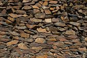 picture of fieldstone-wall  - A dry stack exterior stone wall in Frisco Colorado - JPG