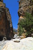 pic of samaria  - In the famous Samaria Gorge at Crete Island in Greece - JPG