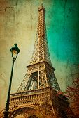 foto of abrasion  - The Eiffel Tower  - JPG
