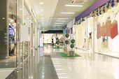 stock photo of mall  - mall interior - JPG