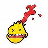 stock photo of gunshot  - cartoon gunshot head - JPG