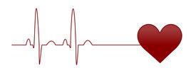 stock photo of beating-heart  - Illustration of a normal EKG heart beat - JPG