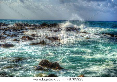 HDR_island_beautiful_colorful_sea_waves_splashing_on_rocks