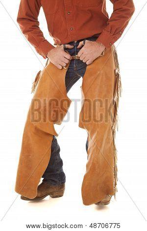 Chaps Hands In Belt Loops