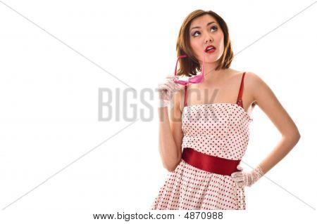 Elegant Lady Calls By Phone