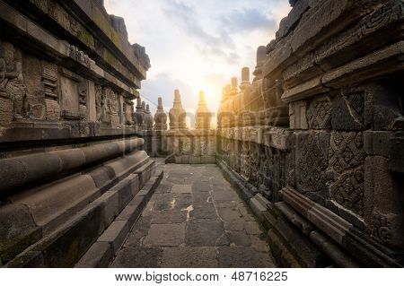 Prambanan Alley at Sunset