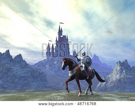 Knight and castle