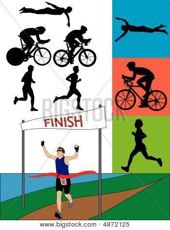 Triathlon Silhouettes
