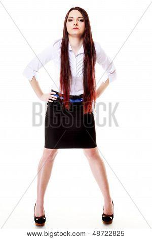 Woman Straight Long Hair Make-up Posing