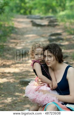 Mother And Baby In The Park